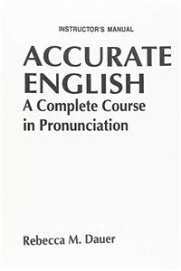 ePub Accurate English: A Complete Course in Pronunciation: Instructor's Manual download