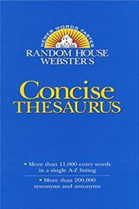 ePub Random House Webster's Concise Thesaurus (Random House Newer Words Faster) download