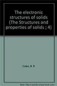 ePub The electronic structures of solids (The Structures and properties of solids ; 4) download