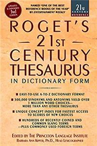 ePub Roget's 21st Century Thesaurus: Updated and Expanded 3rd Edition, in Dictionary Form (21st Century Reference) download