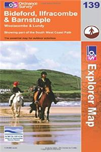 ePub Exp 139 Bideford, Ilfracombe and (Explorer Maps) (OS Explorer Map) download