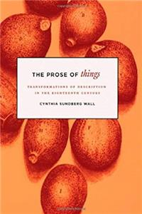 ePub The Prose of Things: Transformations of Description in the Eighteenth Century download